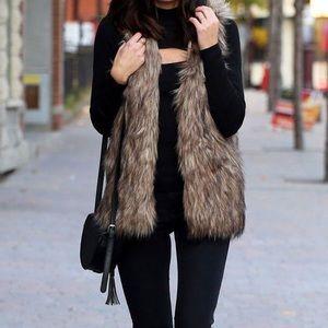 Multi-tone Fur Vest